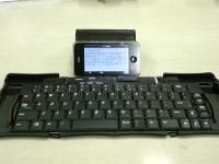 激安bluetoothキーボード+iPhone3GS