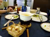 cafe' chez DAIGOでチーズフォンデュを食す