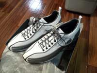 買ったばかりの頃のミズノ+ジョルジオアルマーニ靴