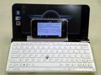 iPhone3GSにVAIO Pのキーボードで入力してみる