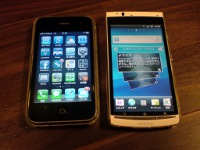 Xperia acro IS11SとiPhone3GS
