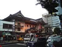 歌舞伎座に到着