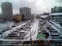 雪の新潟駅