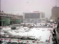 新潟駅南口再開発中