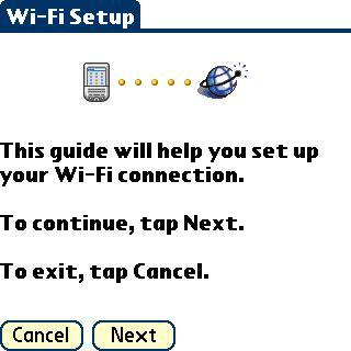 WiFi-Setup画面